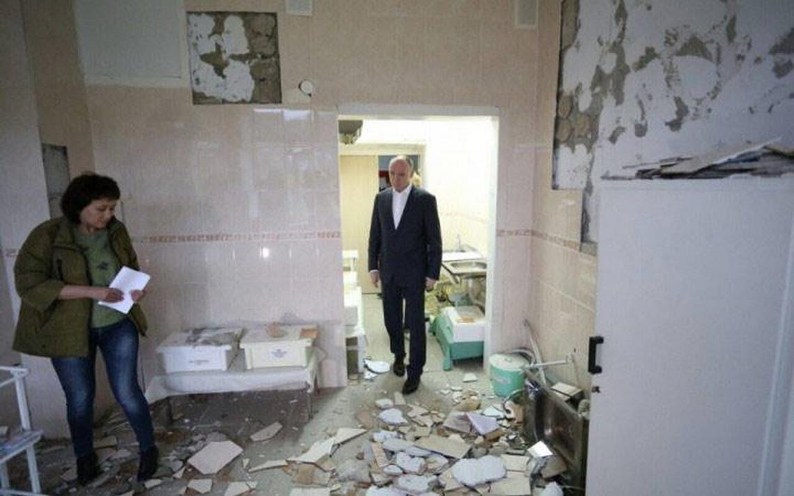 Лично приехал. Борис Дубровский осмотрел здания в пострадавшем от землетрясения городе